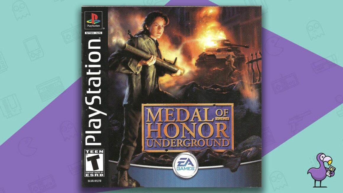 Best PS1 Games - Medal of Honour Underground game case cover art