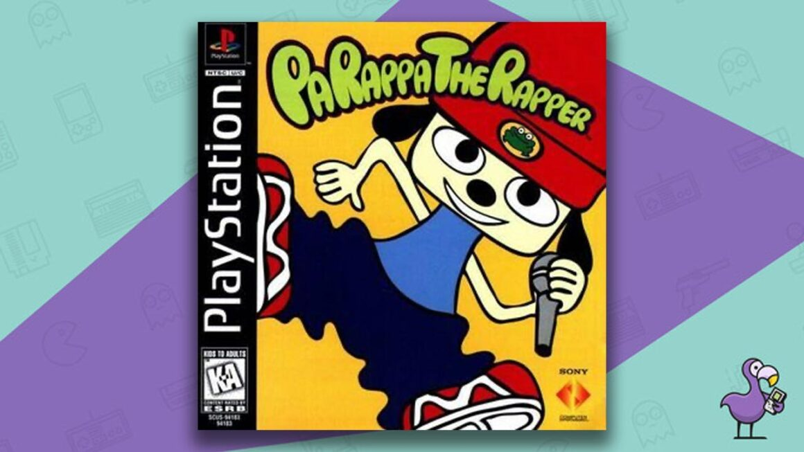 Best PS1 Games - PaRappa The Rapper game case cover art