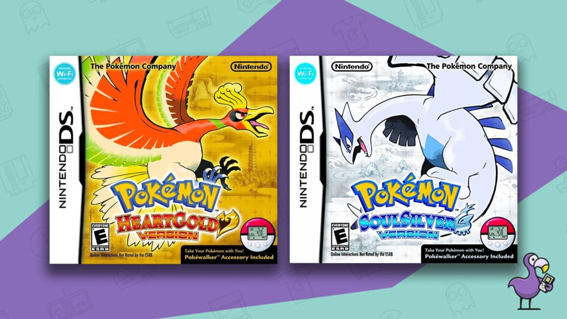 best GBA RPGs - HeartGold SoulSilver game cases cover art