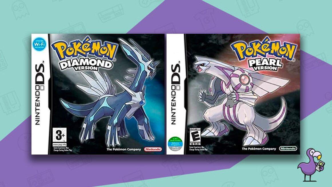 Best DS RPGs - Pokemon Diamond Pokemon Pearl Game Cases Cover Art