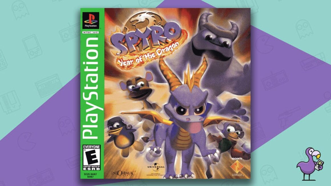 Best PS1 Games - Spyro: Year of the Dragon game case cover art