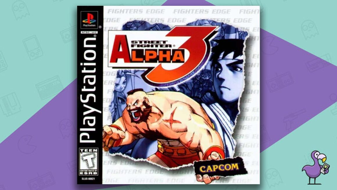 Best PS1 Games - Street Fighter Alpha 3 game case cover art