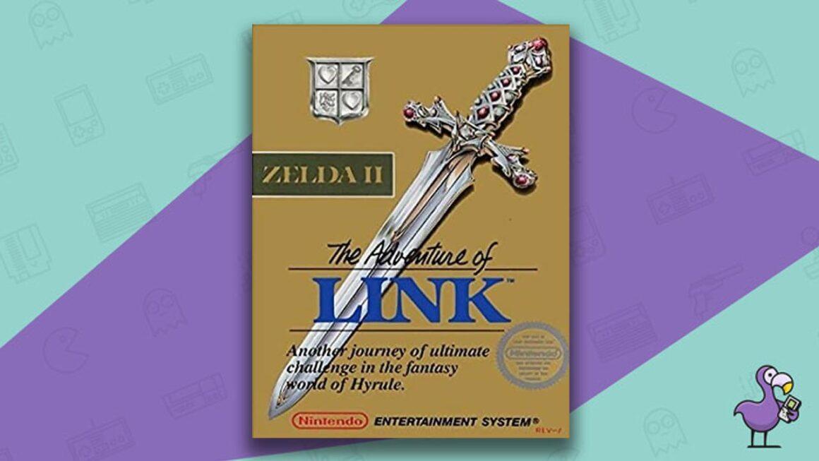 Best NES Games -Zelda 2: The Adventure of Link game case