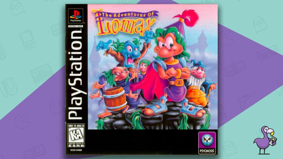 Rare PS1 Games - The Adventures of Lomax game case cover art