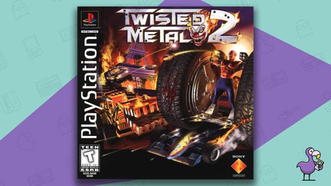 Best PS1 Racing Games - Twisted Metal 2 game case cover art