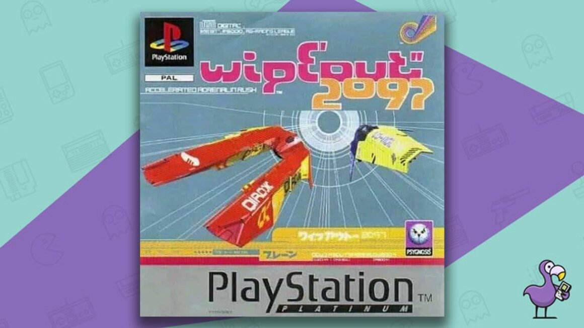 Best PS1 Racing Games - Wipeout 2097 game case cover art
