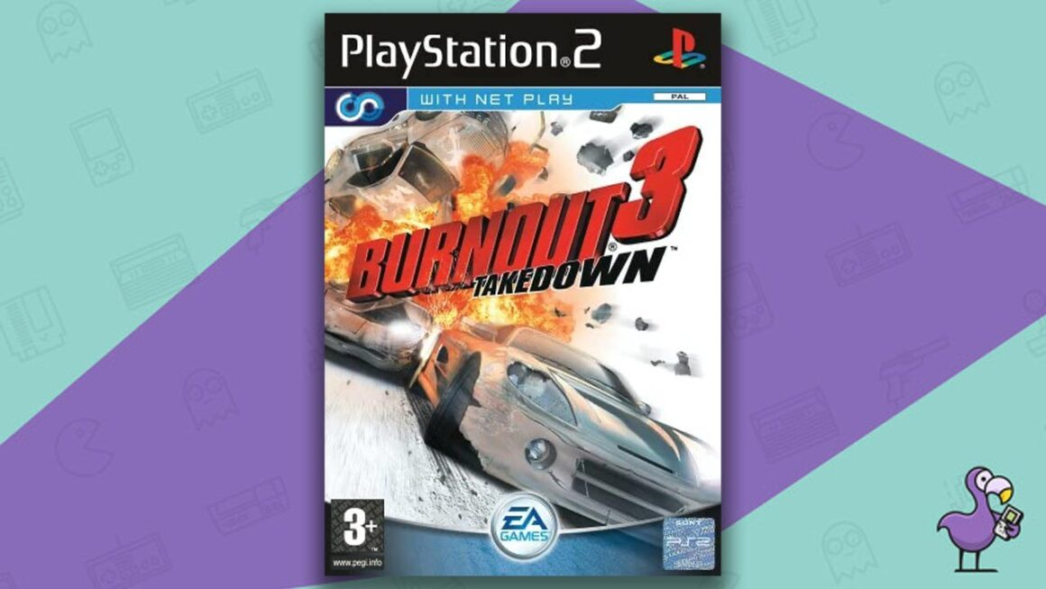 Best PS2 Racing Games - Burnout 3: Takedown game case cover art
