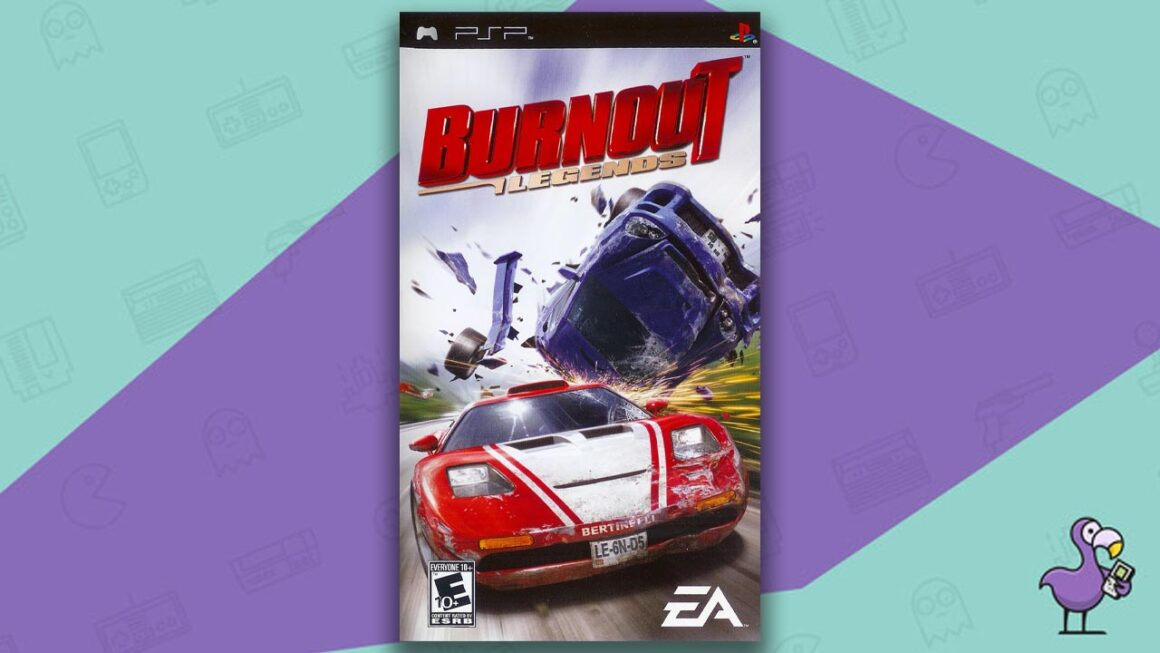 Best PSP racing games - Burnout Legends game case cover art