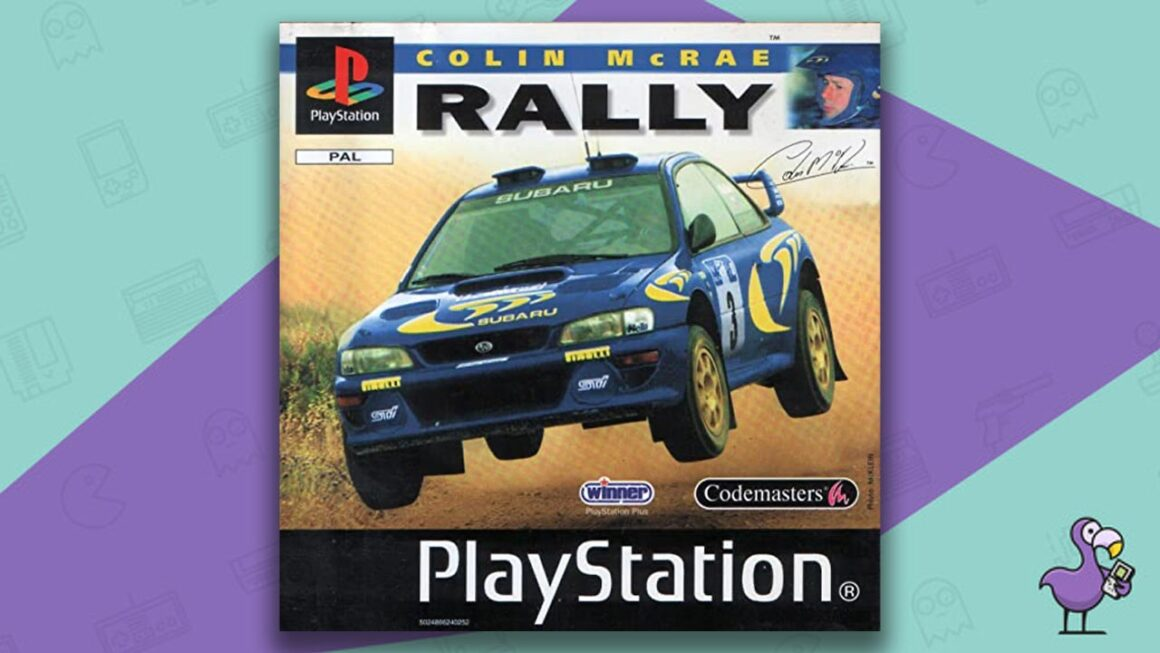 Best PS1 Racing Games - Colin Mcrae Rally game case cover art