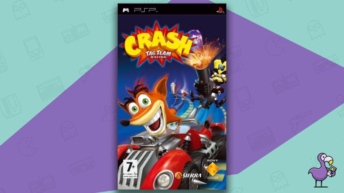 Best PSP racing games - Crash Tag Team Racing game case cover art