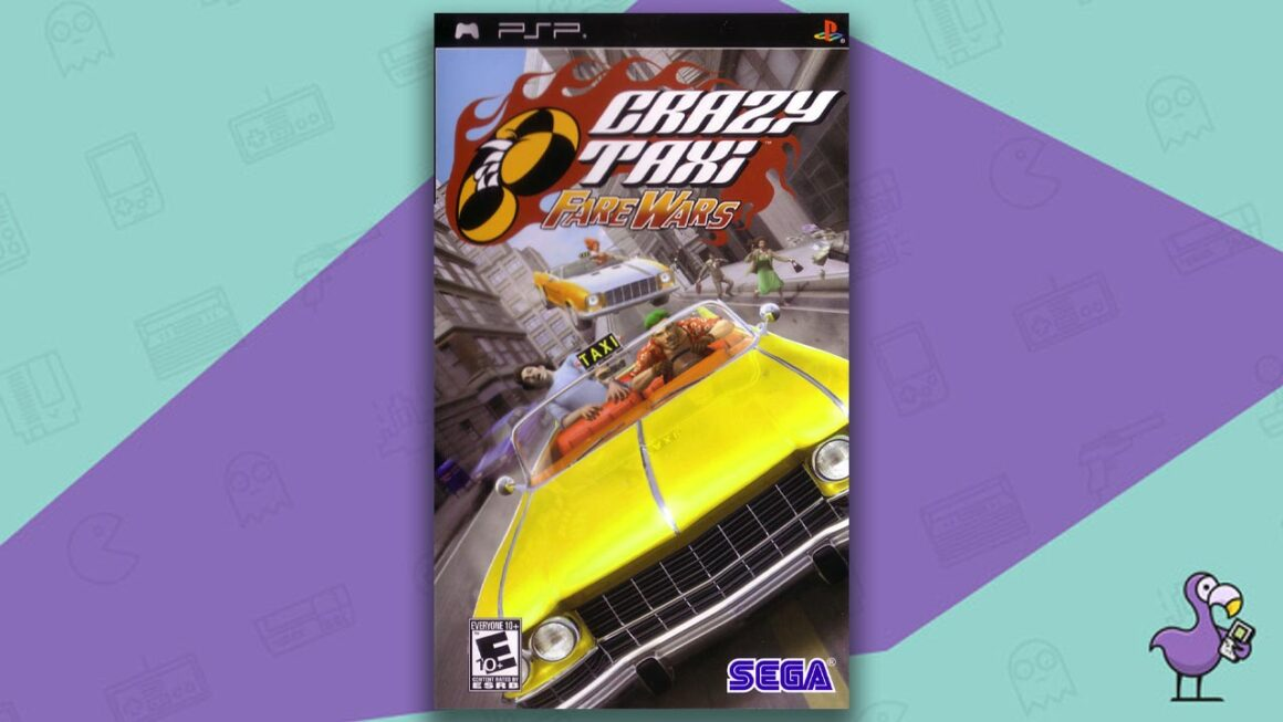 Best PSP racing games - Crazy Taxi: Fare Wars game case cover art