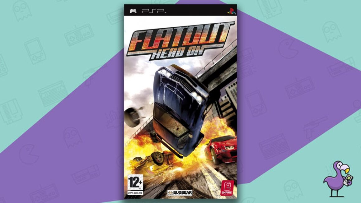 Best PSP racing games - FlatOut Head On Game Case Cover Art