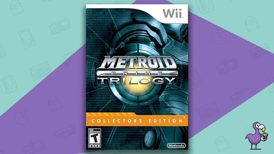 Rare Wii Games - Metroid Prime Trilogy: Steelbook Collector's Edition game case cover art