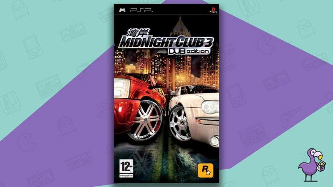 Best PSP racing games - Midnight Club 3: Dub Edition game case cover art