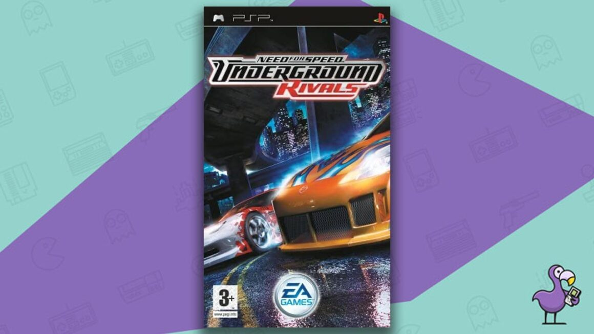 Best PSP racing games - Need for Speed Underground: Rivals game case cover art
