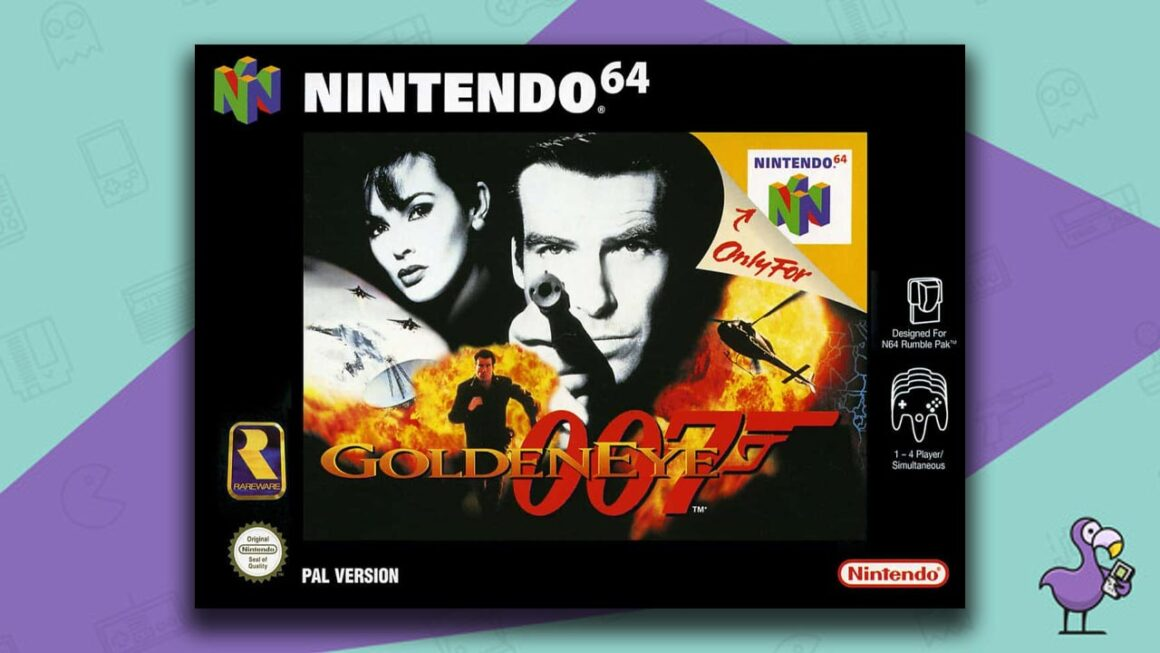 Best Retro Games - Goldeneye 007 game case cover art