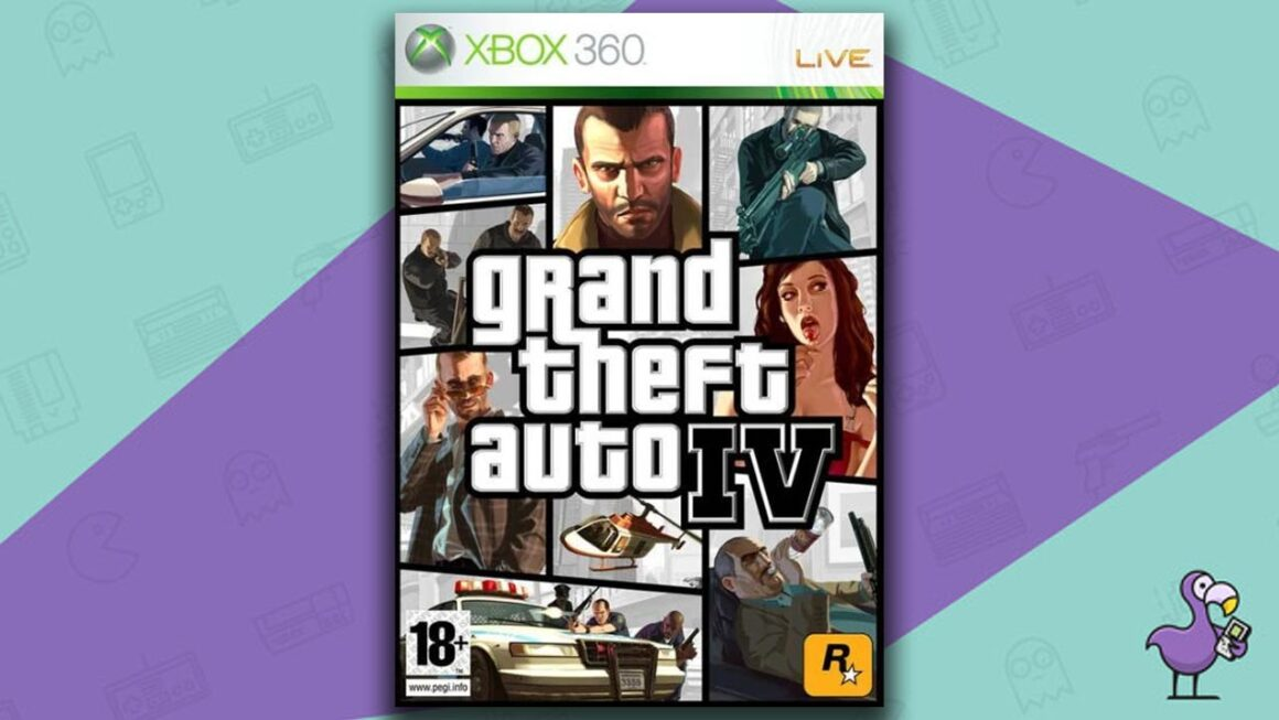 Best Retro Games - Grand Theft auto IV game case cover art