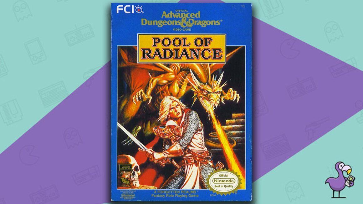 Best NES RPG Games - Pool of radiance game case over art