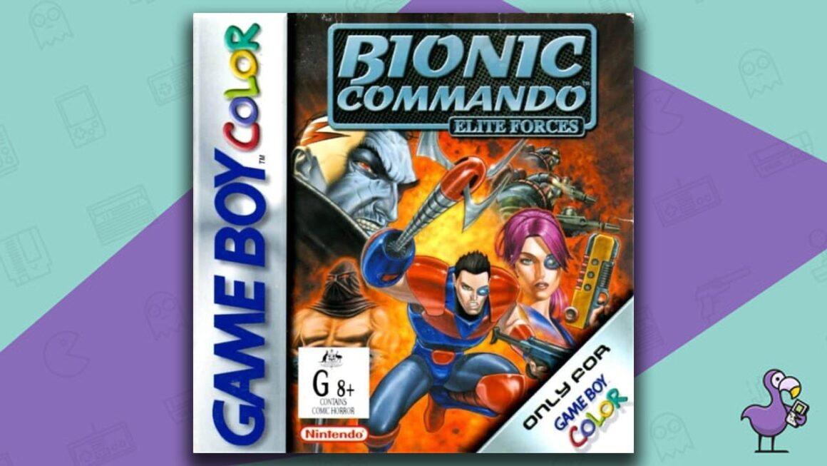 Best Gameboy Color Games - Bionic Commando: Elite Forces game case cover art
