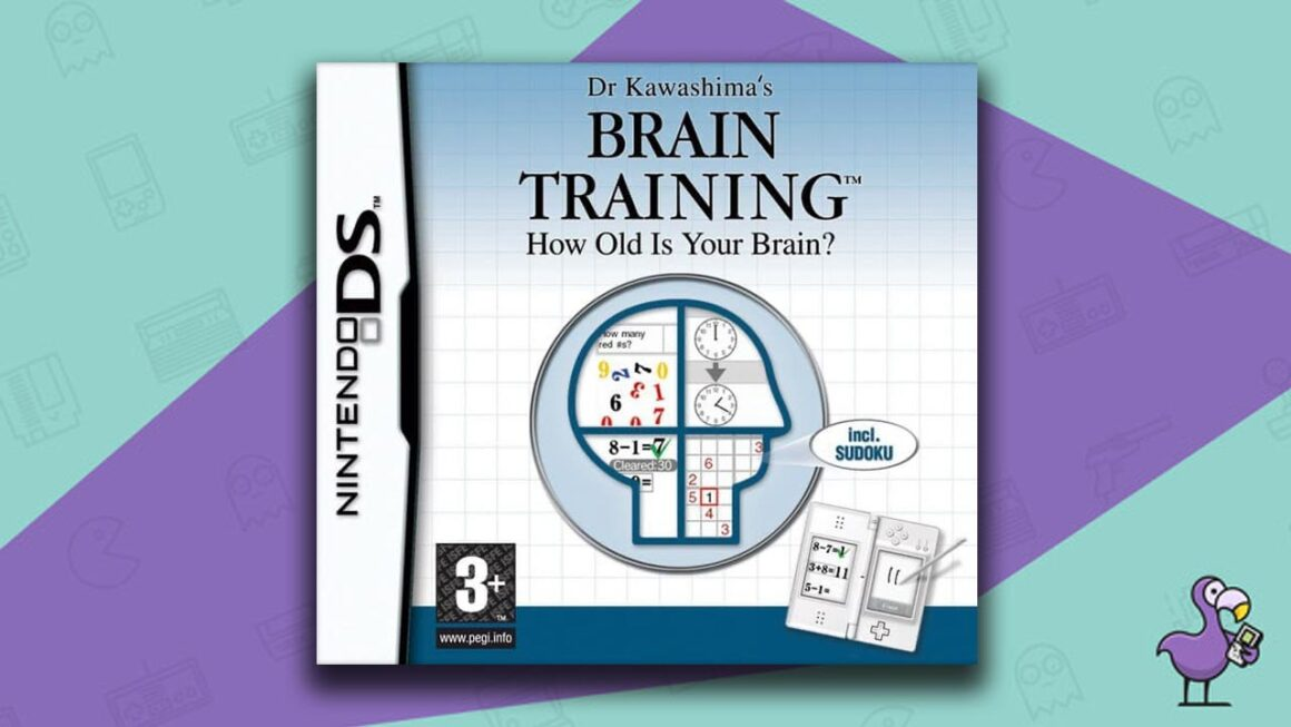 Best Nintendo DS Games - Dr Kawashima's Brain Training game case cover art