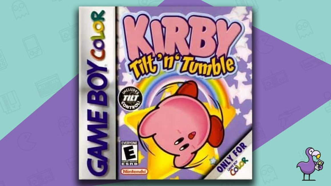 Best Gameboy Color Games - Kirby Tilt 'N' Tumble game case cover art