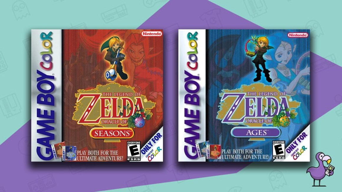 Best Gameboy Color Games - The Legend Of Zelda: Oracle of Seasons/Oracle of Ages game case cover art