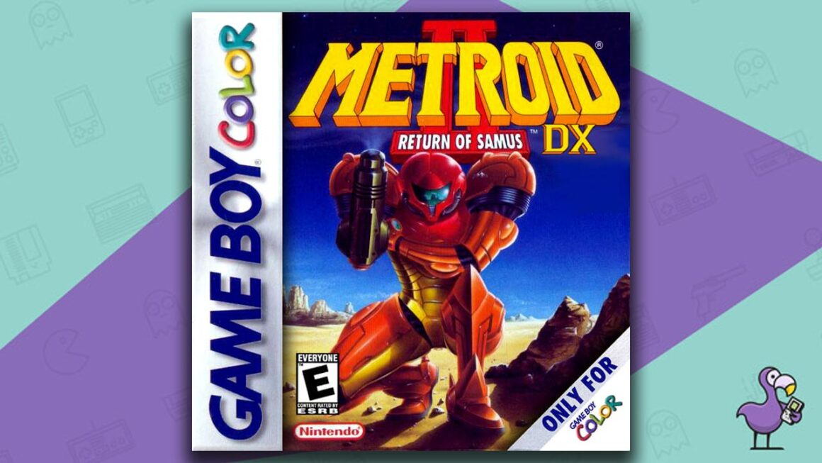 Best Gameboy Color Games - Metroid  2 DX: The Return of Samus game case cover art