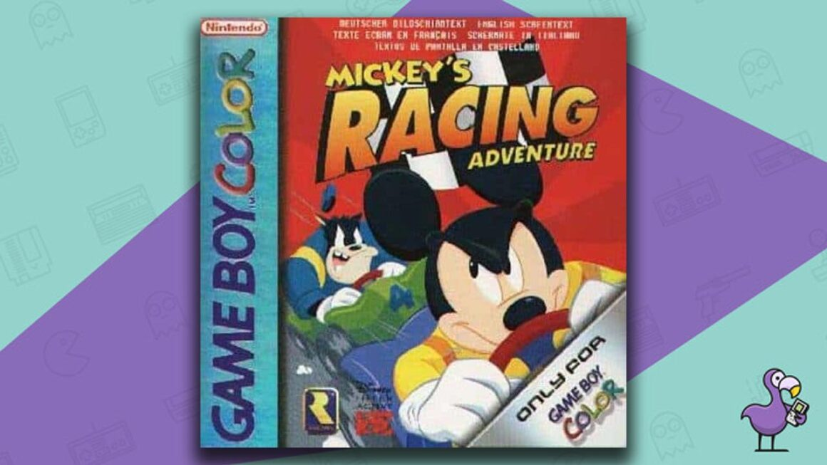 Best Gameboy Color Games - Mickey's Racing Adventure game case cover art