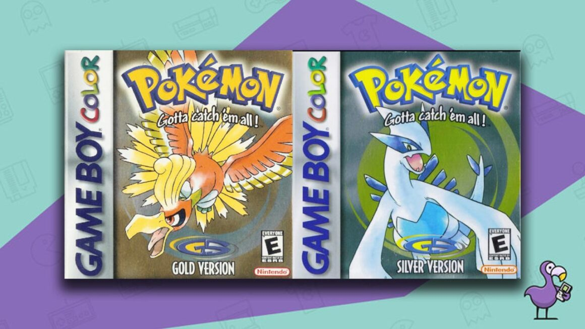 Best Gameboy Color Games - Pokemon Gold/Silver Game Case Cover Art
