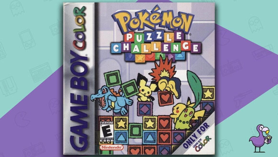 Best Gameboy Color Games - Pokemon Puzzle Challenge game case cover art