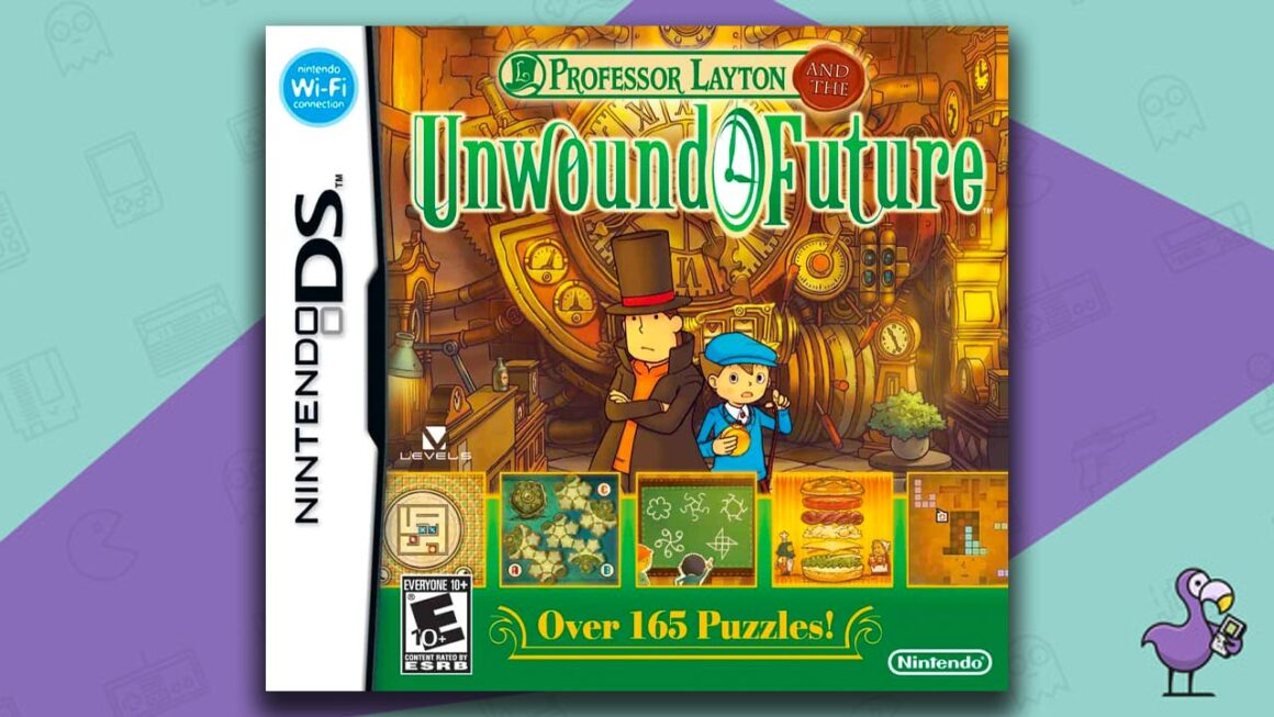 Best Nintendo DS Games - Professor Layton and the Unwound future game case cover art