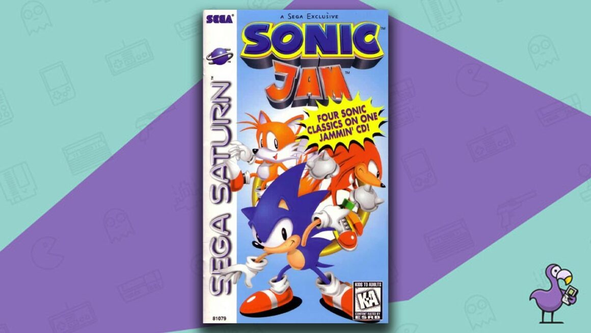 Best Sega Saturn Games - Sonic Jam Game Case Cover Art