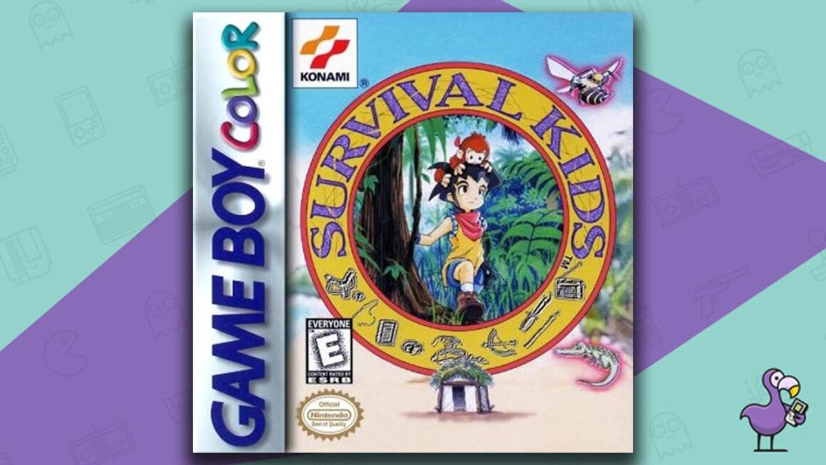 Best Gameboy Color Games -Surival Kids game case cover art