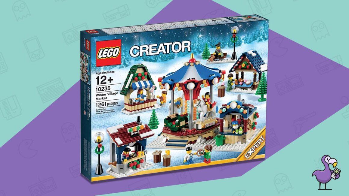 winter village market lego