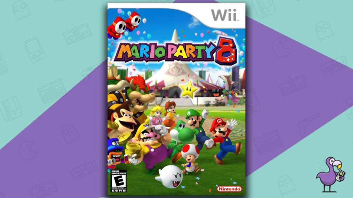Best Multiplayer Wii games - Mario Party 8 game case cover art